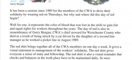 Why Do We Wear Red?