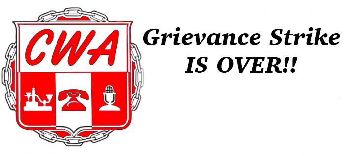 District 9 West- Grievance Strike is Over!!